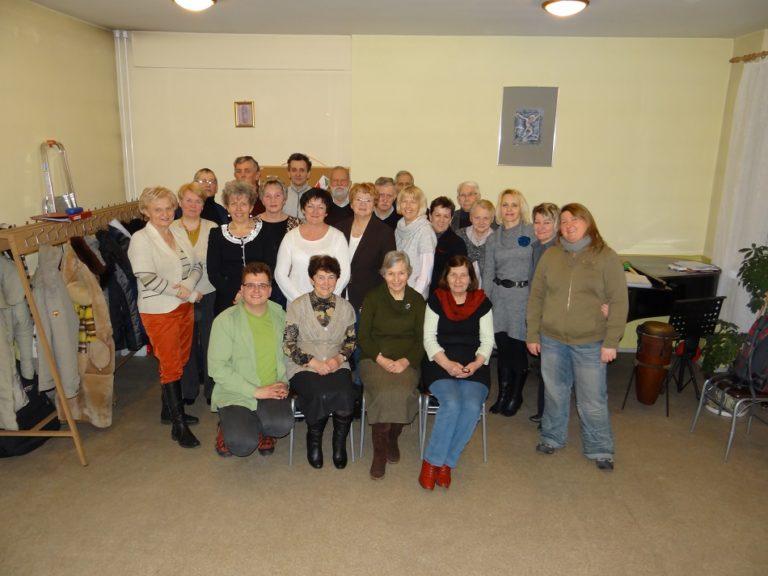 """Cantores Mariae"""" podczas prób – wiosna 2013"""